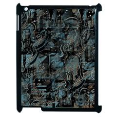 Blue Town Apple Ipad 2 Case (black) by Valentinaart