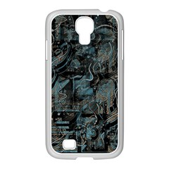 Blue Town Samsung Galaxy S4 I9500/ I9505 Case (white) by Valentinaart