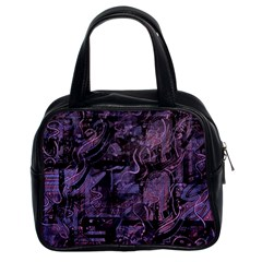 Purple Town Classic Handbags (2 Sides) by Valentinaart