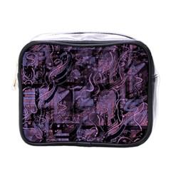 Purple Town Mini Toiletries Bags by Valentinaart
