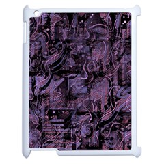 Purple Town Apple Ipad 2 Case (white) by Valentinaart
