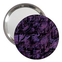 Purple Town 3  Handbag Mirrors by Valentinaart