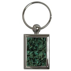 Green Town Key Chains (rectangle)  by Valentinaart
