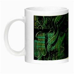 Green Town Night Luminous Mugs by Valentinaart