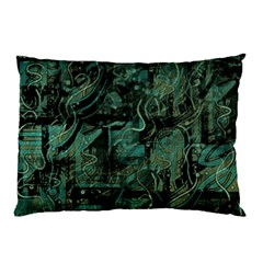 Green Town Pillow Case (two Sides) by Valentinaart