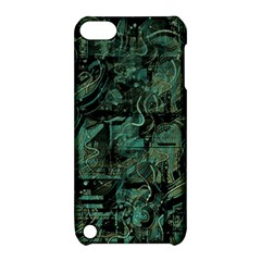 Green Town Apple Ipod Touch 5 Hardshell Case With Stand by Valentinaart