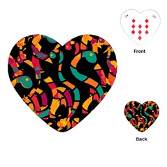 Colorful Snakes Playing Cards (heart)  by Valentinaart