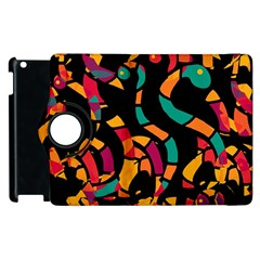 Colorful Snakes Apple Ipad 2 Flip 360 Case by Valentinaart