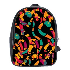 Colorful Snakes School Bags (xl)  by Valentinaart