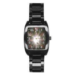 Sun Rays Through White Cherry Blossoms Stainless Steel Barrel Watch by picsaspassion