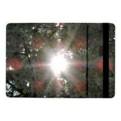 Sun Rays Through White Cherry Blossoms Samsung Galaxy Tab Pro 10 1  Flip Case by picsaspassion