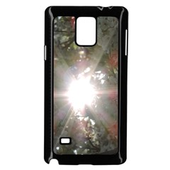 Sun Rays Through White Cherry Blossoms Samsung Galaxy Note 4 Case (black) by picsaspassion