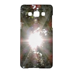 Sun Rays Through White Cherry Blossoms Samsung Galaxy A5 Hardshell Case  by picsaspassion