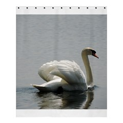 Swimming White Swan Shower Curtain 60  X 72  (medium)  by picsaspassion