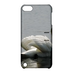 Swimming White Swan Apple Ipod Touch 5 Hardshell Case With Stand by picsaspassion