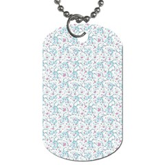 Intricate Floral Collage  Dog Tag (two Sides) by dflcprints
