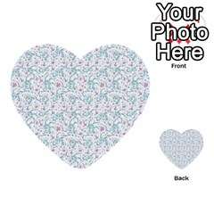 Intricate Floral Collage  Multi Purpose Cards (heart)  by dflcprints