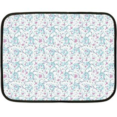 Intricate Floral Collage  Double Sided Fleece Blanket (mini)  by dflcprints