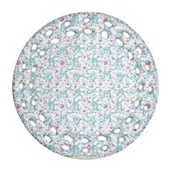 Intricate Floral Collage  Ornament (round Filigree)  by dflcprints