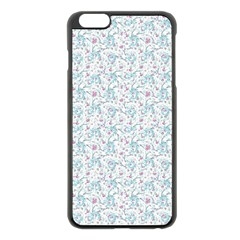 Intricate Floral Collage  Apple Iphone 6 Plus/6s Plus Black Enamel Case by dflcprintsclothing