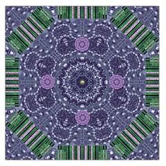 Star Of Mandalas Large Satin Scarf (square) by pepitasart