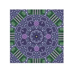 Star Of Mandalas Small Satin Scarf (square)