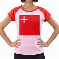 Flag of Canton of Schwyz Women s Cap Sleeve T-Shirt by abbeyz71
