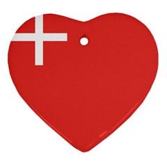 Flag Of Canton Of Schwyz Heart Ornament (2 Sides) by abbeyz71
