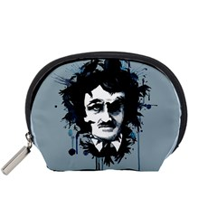 Edgar Allan Crow Accessory Pouches (Small)  by lvbart
