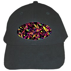 Colorful Dragonflies Design Black Cap by Valentinaart