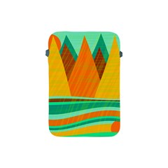Orange And Green Landscape Apple Ipad Mini Protective Soft Cases by Valentinaart