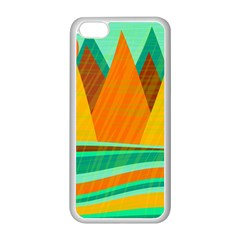 Orange And Green Landscape Apple Iphone 5c Seamless Case (white) by Valentinaart