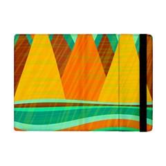 Orange And Green Landscape Ipad Mini 2 Flip Cases by Valentinaart