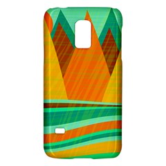 Orange And Green Landscape Galaxy S5 Mini by Valentinaart