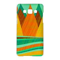 Orange And Green Landscape Samsung Galaxy A5 Hardshell Case  by Valentinaart