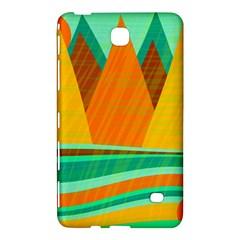 Orange And Green Landscape Samsung Galaxy Tab 4 (8 ) Hardshell Case  by Valentinaart