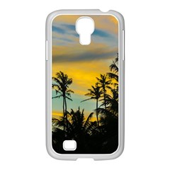 Tropical Scene At Sunset Time Samsung Galaxy S4 I9500/ I9505 Case (white) by dflcprints