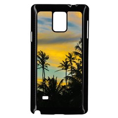 Tropical Scene At Sunset Time Samsung Galaxy Note 4 Case (black) by dflcprints