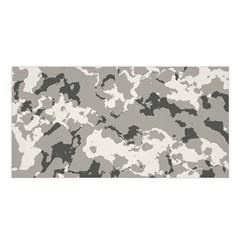 Winter Camouflage Satin Shawl