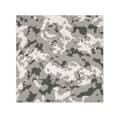 Winter Camouflage Small Satin Scarf (square) by LetsDanceHaveFun