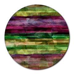 Colorful Marble Round Mousepads by Valentinaart