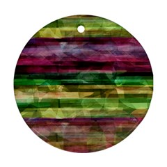 Colorful Marble Ornament (round)  by Valentinaart