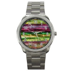 Colorful marble Sport Metal Watch