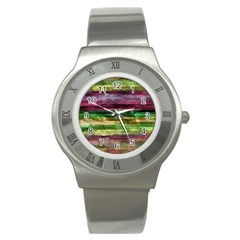 Colorful Marble Stainless Steel Watch by Valentinaart