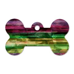 Colorful Marble Dog Tag Bone (two Sides) by Valentinaart