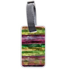 Colorful Marble Luggage Tags (one Side)  by Valentinaart