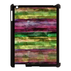 Colorful Marble Apple Ipad 3/4 Case (black) by Valentinaart
