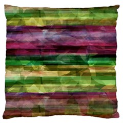 Colorful Marble Large Flano Cushion Case (two Sides) by Valentinaart