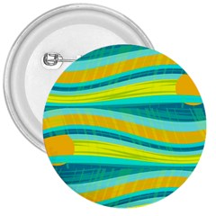 Yellow and blue decorative design 3  Buttons by Valentinaart