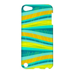 Yellow And Blue Decorative Design Apple Ipod Touch 5 Hardshell Case by Valentinaart